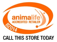 Biggleswade Saddlery Equiworld Animal Life Accredited Retailer unique Logo
