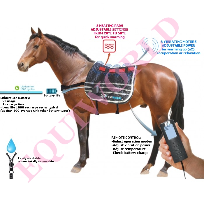 Equiworld E.Ziback equine massager -vibrating and heating